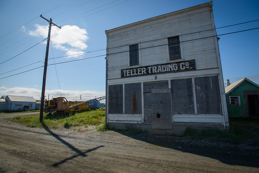 Downtown Teller, Alaska. Photo by James R. Evans