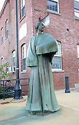 Mill Girl Statue in Manchester, New Hampshire USA. This statue is a dedication to all 19th century working women