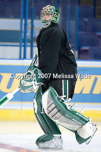 Bobby Jarosz (Michigan State - Crystal Lake, IL) takes part in the Michigan State University Spartans' practice on Friday, April 6, 2007, at the Scottrade Center in St. Louis, Missouri in preparation for the 2007 Frozen Four Final on April 7.
