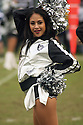 December 06 2015: Raiderette Cheerleader with the Oakland Raiders during a 34-20 loss to the Kansas City Chiefs at O.co Stadium in Oakland, Ca. (Photo by Rob Holt/MMS)