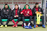 09.02.2019, HDI Arena, Hannover, GER, 1.FBL, Hannover 96 vs 1. FC Nuernberg<br /> <br /> DFL REGULATIONS PROHIBIT ANY USE OF PHOTOGRAPHS AS IMAGE SEQUENCES AND/OR QUASI-VIDEO.<br /> <br /> im Bild / picture shows<br /> Ersatzbank 1. FC N&uuml;rnberg, <br /> Mikael Ishak (Nuernberg #09), Sebastian Kerk (Nuernberg #10), Robert Bauer (Nuernberg #08), Fabian Bredlow (Nuernberg #01), <br /> <br /> Foto &copy; nordphoto / Ewert