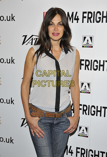 LONDON, ENGLAND - AUGUST 25: Helena Noguerra attends the &quot;Alleluia&quot; UK film premiere, Film4 FrightFest day 5, Vue West End cinema, Leicester Square, on Monday August 25, 2014 in London, England, UK. <br /> CAP/CAN<br /> &copy;Can Nguyen/Capital Pictures