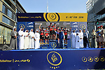 BMC Racing Team take the team prize at the end of Stage 5 The Meraas Stage final stage of the Dubai Tour 2018 the Dubai Tour&rsquo;s 5th edition, running 132km from Skydive Dubai to City Walk, Dubai, United Arab Emirates. 10th February 2018.<br /> Picture: LaPresse/Massimo Paolone | Cyclefile<br /> <br /> <br /> All photos usage must carry mandatory copyright credit (&copy; Cyclefile | LaPresse/Massimo Paolone)