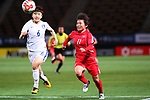 (L-R) <br /> Lim Seonjoo (KOR), <br /> Sung Hyang Sim (PRK), <br /> DECEMBER 11, 2017 - Football / Soccer : <br /> EAFF E-1 Football Championship 2017 Women's Final match <br /> between North Korea 1-0 South Korea <br /> at Fukuda Denshi Arena in Chiba, Japan. <br /> (Photo by Naoki Nishimura/AFLO)