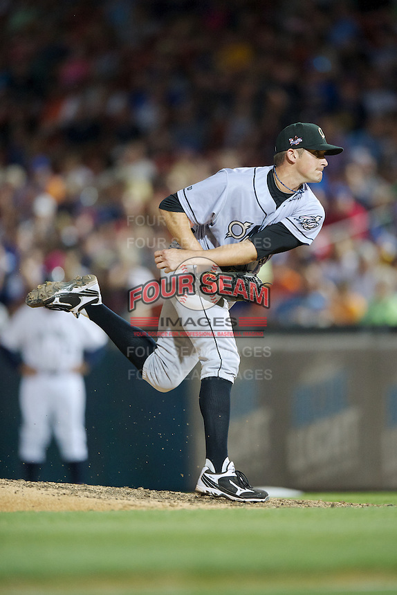 Omaha Storm Chasers pitcher Tommy Hottovy #28 during the Triple-A All-Star game featuring the Pacific Coast League and International League top players at Coca-Cola Field on July 11, 2012 in Buffalo, New York.  PCL defeated the IL 3-0.  (Mike Janes/Four Seam Images)