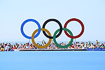 General view, <br /> AUGUST 15, 2016 - Swimming : <br /> Women's 10km Marathon Swimming <br /> at Fort Copacabana <br /> during the Rio 2016 Olympic Games in Rio de Janeiro, Brazil. <br /> (Photo by Yohei Osada/AFLO SPORT)