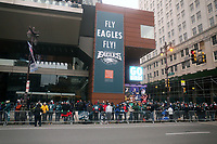 PHILADELPHIA, PA - FEBRUARY 8 :  Philadelphia Eagles celebrate their first Super Bowl Championship as crouds of people gather at the Art Museum in Philadelphia, Pa  Credit:  Star Shooter/MediaPunch