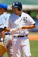 Rice Owls designated hitter Anthony Rendon #23 on first against the Memphis TIgers in NCAA Conference USA baseball on May 14, 2011 at Reckling Park in Houston, Texas. (Photo by Andrew Woolley / Four Seam Images)