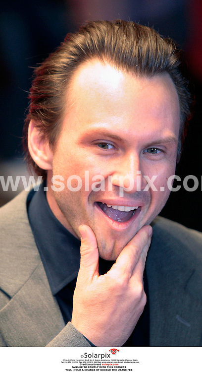 **ALL ROUND PICTURES FROM SOLARPIX.COM**.**PLEASE NOTE UK RESTRICTIONS - NO UK NEWSPAPER PUBLICATION - UK MAGAZINES ONLY**.**NO PUBLICATION IN FRANCE, SCANDANAVIA, AUSTRALIA AND GERMANY** ..Christian Slater arrive at the UK Gala screening of the movie Bobby which tells the story of the assassination of U.S. Senator Robert F. Kennedy, on June 6th, 1968, which centers around 22 people who were at the Ambassador Hotel where he was killed...DATE: 26/10/2006-JOB REF: 2983-SFE.**MUST CREDIT SOLARPIX.COM OR DOUBLE FEE WILL BE CHARGED**