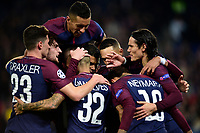 Celebration Esultanza de Neymar Jr (PSG) apres son but<br /> Celebration Esultanza des joueurs du PSG<br /> Parigi 31-10-2017 <br /> Paris Saint Germain - Anderlecht Champions League 2017/2018<br /> Foto Panoramic / Insidefoto