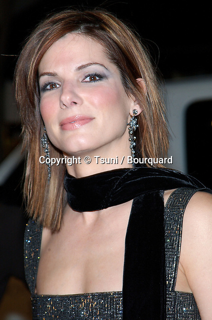 Sandra Bullock arriving at the Two Weeks Notice Premiere at the Bruin Theatre in Los Angeles. December 18, 2002.