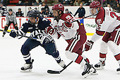 Cody Learned (Yale - 12), Seb Lloyd (Harvard - 15), Wiley Sherman (Harvard - 25) - The visiting Yale University Bulldogs defeated the Harvard University Crimson 2-1 (EN) on Saturday, November 15, 2014, at Bright-Landry Hockey Center in Cambridge, Massachusetts.