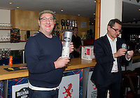 Winner of the Whisky in the raffle during the Pre-match hospitality ahead of the Greene King IPA Championship match between London Scottish Football Club and Ealing Trailfinders at Richmond Athletic Ground, Richmond, United Kingdom on 26 December 2015. Photo by Alan  Stanford / PRiME Media Images