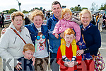 Peggy O'Keeffe with Darragh, Shauna, Chris , Aoibhinn, Cian and Breda McCarthy (Scartaglin), enjoying Listowel races on Sunday last.