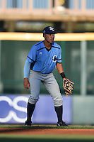 Charlotte Stone Crabs second baseman Kean Wong (4) during a game against the Bradenton Marauders on April 22, 2015 at McKechnie Field in Bradenton, Florida.  Bradenton defeated Charlotte 7-6.  (Mike Janes/Four Seam Images)