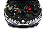 Car stock 2020 Renault Captur Initiale Paris 5 Door SUV engine high angle detail view