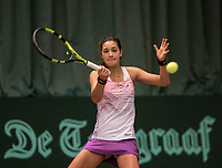 The Hague, The Netherlands, March 17, 2017,  De Rhijenhof, NOJK 14/18 years, Merel Hoedt (NED)<br /> Photo: Tennisimages/Henk Koster