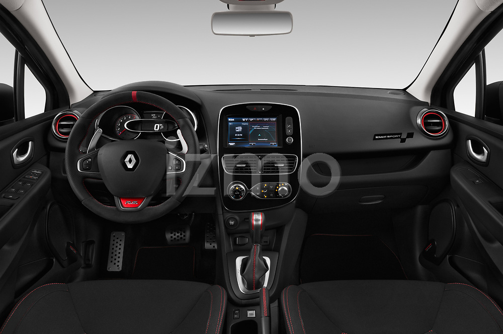 Stock photo of straight dashboard view of a 2018 Renault Clio RS Final Edition 5 Door Hatchback