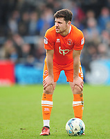 Blackpool's Jordan Flores prepares to take a free kick<br /> <br /> Photographer Kevin Barnes/CameraSport<br /> <br /> The EFL Sky Bet League Two - Wycombe Wanderers v Blackpool - Saturday 11th March 2017 - Adams Park - Wycombe<br /> <br /> World Copyright &copy; 2017 CameraSport. All rights reserved. 43 Linden Ave. Countesthorpe. Leicester. England. LE8 5PG - Tel: +44 (0) 116 277 4147 - admin@camerasport.com - www.camerasport.com