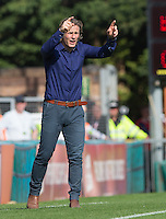 Wycombe Wanderers Manager Gareth Ainsworth gives instruction during the Sky Bet League 2 match between Wycombe Wanderers and York City at Adams Park, High Wycombe, England on 8 August 2015. Photo by Andy Rowland.