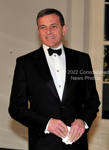 Robert Iger, President and CEO, Walt Disney Company arrives for the State Dinner in honor of President Hu Jintao of China at the White House In Washington, D.C. on Wednesday, January 19, 2011. .Credit: Ron Sachs / CNP