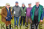John Kennelly (Listowel), Timmy Dee (Templeglantine), Jason and Mattie Carmody (Duagh) and John Scully (New York) at the Kilflynn coursing meeting on Sunday.