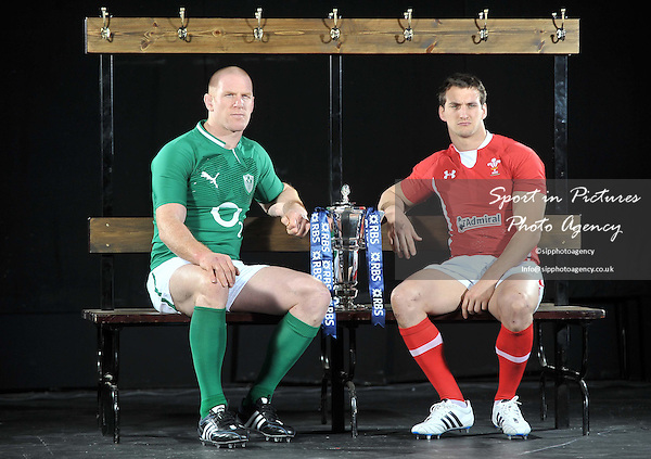 (L-R)  Paul O'Connell of Ireland and Sam Warburton of Wales. RBS 6 Nations Rugby Launch. The Hurlingham Club. London. 25/01/2012. MANDATORY Credit Garry Bowden/Sportinpictures - NO UNAUTHORISED USE - 07837 394578