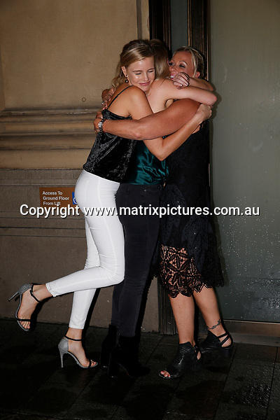 21 MARCH 2017 SYDNEY AUSTRALIA<br /> WWW.MATRIXPICTURES.COM.AU<br /> <br /> EXCLUSIVE PICTURES<br /> <br /> Lisa Curry pictured with her fianc&eacute; Mark Tabone and her I'm A Celebrity castmates Keira Maguire and Tegan Martin leaving Mr Wongs after a catch up dinner. <br /> <br /> Note: All editorial images subject to the following: For editorial use only. Additional clearance required for commercial, wireless, internet or promotional use.Images may not be altered or modified. Matrix Media Group makes no representations or warranties regarding names, trademarks or logos appearing in the images.