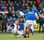 03.11.18 St Mirren v Rangers: Ovie Ejaria fouled by Ian McShane