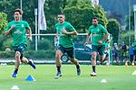 04.07.2019, Parkstadion, Zell am Ziller, AUT, TL Werder Bremen - Tag 00<br /> <br /> im Bild / picture shows 1. Training im TL Zillertal am Mittwoch abend<br /> <br /> Milot Rashica (Werder Bremen #07)<br /> Yuya Osako (Werder Bremen #08)<br /> Claudio Pizarro (Werder Bremen #14)<br /> Foto © nordphoto / Kokenge