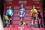 Julian Alaphilippe (FRA) Deceuninck-Quick Step wins Strade Bianche 2019 with Jakob Fuglsang (DEN) Astana Pro Team 2nd place and Wout Van Aert (BEL) Team Jumbo-Visma in 3rd place, running 184km from Siena to Siena, held over the white gravel roads of Tuscany, Italy. 9th March 2019.<br /> Picture: LaPresse/Gian Matteo D'Alberto | Cyclefile<br /> <br /> <br /> All photos usage must carry mandatory copyright credit (© Cyclefile | LaPresse/Gian Matteo D'Alberto)