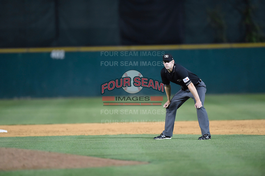 ***Temporary Unedited Reference File***Umpire Cody Oakes during a game between the Midland RockHounds and San Antonio Missions on April 21, 2016 at Nelson W. Wolff Municipal Stadium in San Antonio, Texas.  Midland defeated San Antonio 9-2.  (Mike Janes/Four Seam Images)