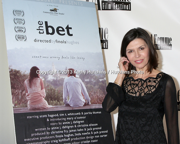 "LOS ANGELES - OCT 19:  Finola Hughes at the ""The Bet"" Screening at Le Femme Film Festival at Regal 14 Theaters on October 19, 2013 in Los Angeles, CA"