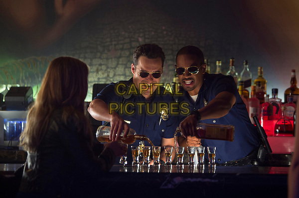 Jake Johnson, Damon Wayans, Jr.<br /> in Let's Be Cops (2014) <br /> *Filmstill - Editorial Use Only*<br /> CAP/FB<br /> Image supplied by Capital Pictures