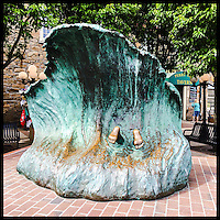 """The Wave"" by Kay Worden, commissioned by the Perrey Mill/Bay Club Partners in 1983 in Newport, Rhode Island."