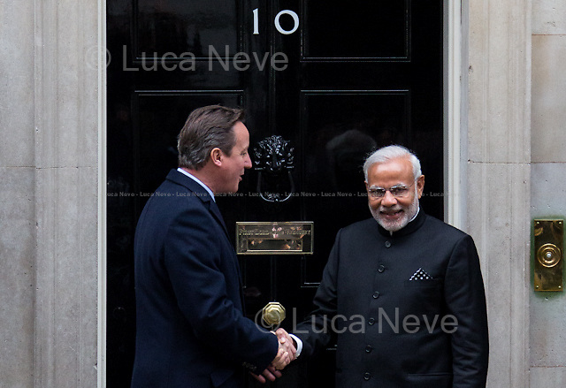 (From L to R) David Cameron and Narendra Modi. <br />
