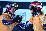 Snowboard World Cup 2018 FIS in Carezza, on December 14, 2017; Parallel Giant Slalom; Ester Ledecka (CZE), Ramona Hofmeister (GER)