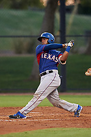 AZL Rangers Reynaldo Pichardo (6) at bat during an Arizona League game against the AZL Dodgers Mota at Camelback Ranch on June 18, 2019 in Glendale, Arizona. AZL Dodgers Mota defeated AZL Rangers 13-4. (Zachary Lucy/Four Seam Images)