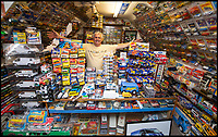 BNPS.co.uk (01202 558833)Pic: PhilYeomans/BNPS<br /> <br /> Transit-Man-Cave - Peter's house is crammed full of anything Transit related.<br /> <br /> Transit-man Peter Lee - Lifetime's collection of anything related to Britains favourite van.<br /> <br /> White van Super-Man - When it comes to motoring collections there are no shortage of impressive Ferrari and Aston Martin ensembles, but one enthusiast is laying claim to a rather different collection.<br /> <br /> Peter Lee, 68, believes he has the world's biggest Ford Transit collection and is the proud owner of over 22,000 items relating to the world's most famous van.<br /> <br /> Included among that are nine pristine vehicles that he regularly uses himself at various shows and events.<br /> <br /> He says he has no idea how much he's spent assembling the impressive collection but it is thought to be in the hundreds of thousands of pounds.