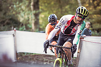Marcel Wildhaber (SUI) cornering on the limit. <br /> <br /> UEC CYCLO-CROSS EUROPEAN CHAMPIONSHIPS 2018<br /> 's-Hertogenbosch – The Netherlands<br /> Men Elite Race