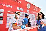 Spanish Champion Alejandro Valverde (ESP) Movistarv Team at sign on before Stage 3 The Emirates Stage of the UAE Tour 2020 running 184km from Al Qudra Cycle Track to Jebel Hafeet, Dubai. 25th February 2020.<br /> Picture: LaPresse/Massimo Paolone   Cyclefile<br /> <br /> All photos usage must carry mandatory copyright credit (© Cyclefile   LaPresse/Massimo Paolone)