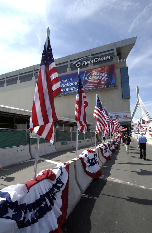Fleet Center at the Democratic National Convention 2004 in Boston Massachusetts.