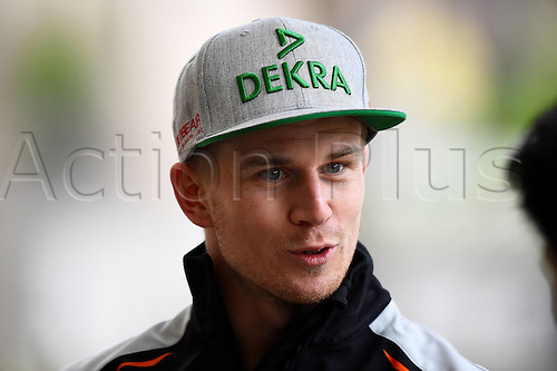 01.04.2016. Bahrain. FIA Formula One World Championship 2016, Grand Prix of Bahrain, Practise day.  Niko Huelkenberg, Sahara Force India F1 at the press conference