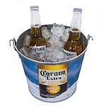 corona cloth and ice bucket