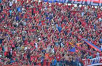 MEDELLIN - COLOMBIA, 16-03-2019: Hinchas del Medellín animan a su equipo durante partido por la fecha 10 Final entre Deportivo Independiente Medellín y Atlético Nacional como parte de la Liga Águila I 2019 jugado en el estadio Atanasio Girardot de la ciudad de Medellín. / Fans of Medellin cheer for their team during Match for the date 10 between Deportivo Independiente Medellin and Atletico Nacional as a part Aguila League I 2019 at Atanasio Girardot stadium in Medellin city. Photo: VizzorImage / Leon Monsalve / Cont