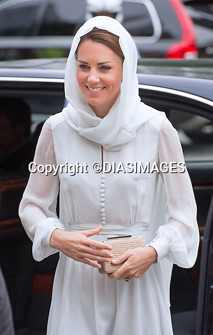 "CATHERINE, DUCHESS OF CAMBRIDGE AND PRINCE WILLIAM.visited the As Syakirin Mosque, Kuala Lumpur_14/09/2012.The Duchess covered her head with a traditional head scarf.Mandatory credit photo: ©TR Pool/DIASIMAGES..(Failure to credit will incur a surcharge of 100% of reproduction fees)..                **ALL FEES PAYABLE TO: ""NEWSPIX INTERNATIONAL""**..IMMEDIATE CONFIRMATION OF USAGE REQUIRED:.DiasImages, 31a Chinnery Hill, Bishop's Stortford, ENGLAND CM23 3PS.Tel:+441279 324672  ; Fax: +441279656877.Mobile:  07775681153.e-mail: info@newspixinternational.co.uk"