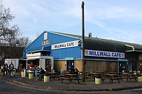 The Millwall Cafe situated outside the ground during Millwall vs Barnsley, Emirates FA Cup Football at The Den on 6th January 2018