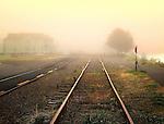 A foggy morning in Astoria, Oregon