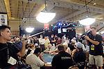 ESPN crew films a table