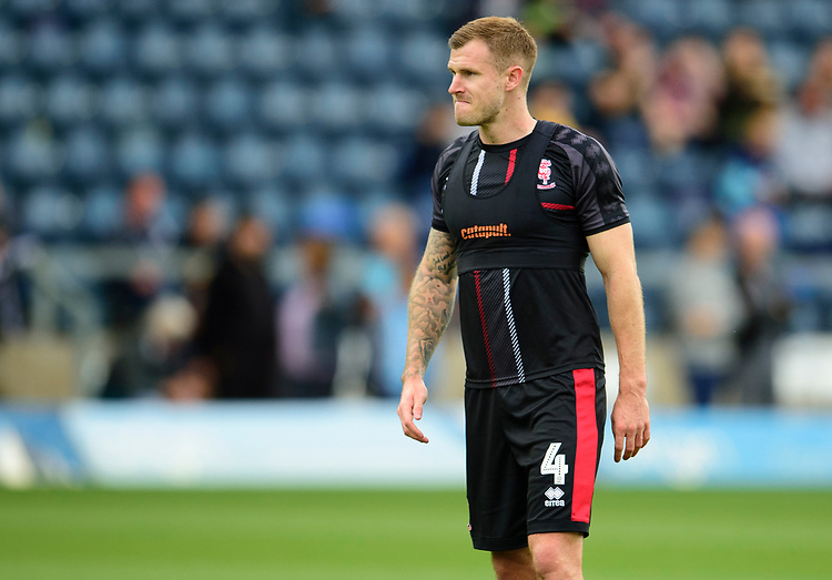 Lincoln City's Michael O'Connor during the pre-match warm-up<br /> <br /> Photographer Andrew Vaughan/CameraSport<br /> <br /> The EFL Sky Bet League One - Wycombe Wanderers v Lincoln City - Saturday 7th September 2019 - Adams Park - Wycombe<br /> <br /> World Copyright © 2019 CameraSport. All rights reserved. 43 Linden Ave. Countesthorpe. Leicester. England. LE8 5PG - Tel: +44 (0) 116 277 4147 - admin@camerasport.com - www.camerasport.com